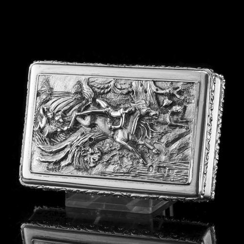 Rare Antique Georgian Solid Silver Mazeppa Snuff Box - Edward Smith 1836 (1 of 23)