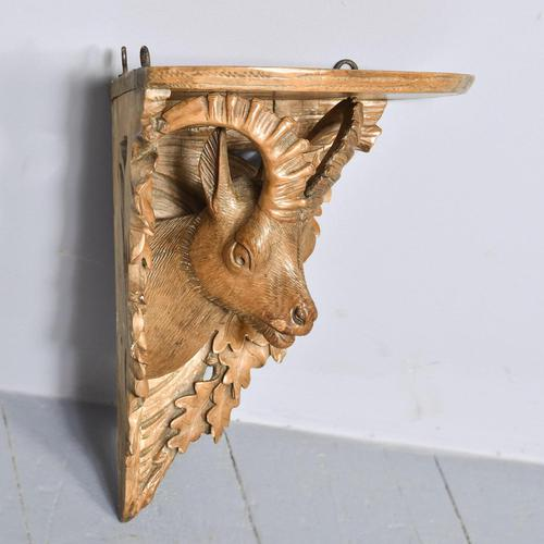 Black Forest Carved Limewood Wall Bracket (1 of 5)