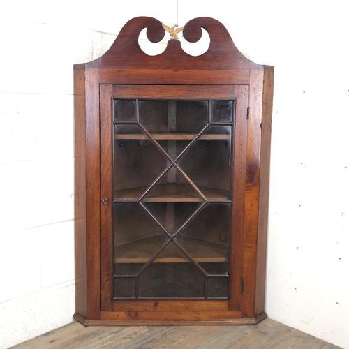 Antique Glazed Corner Cupboard (1 of 7)
