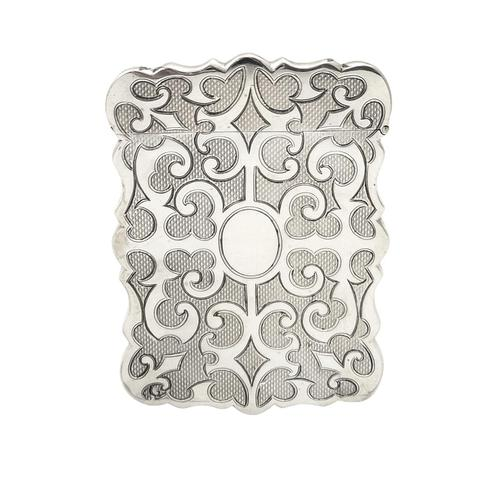 Antique Victorian Sterling Silver Card Case 1853 (1 of 8)