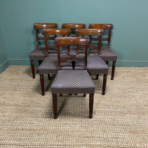 Superb Quality William IV Set of Six Mahogany Antique Dining Chairs (1 of 9)