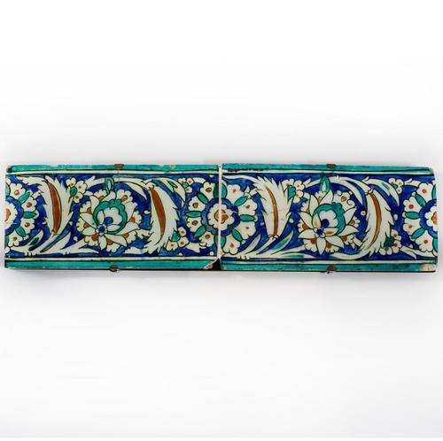 Two Ottoman Iznik Border Tiles c.1600 (1 of 4)
