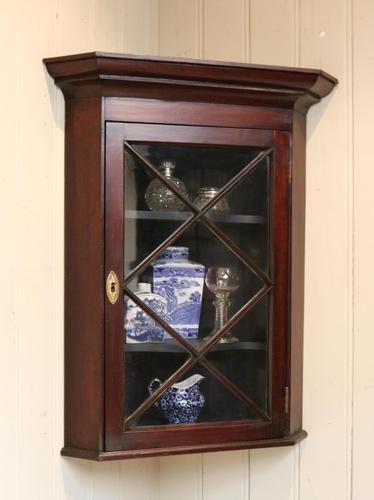 Mahogany Corner Wall Cabinet (1 of 9)