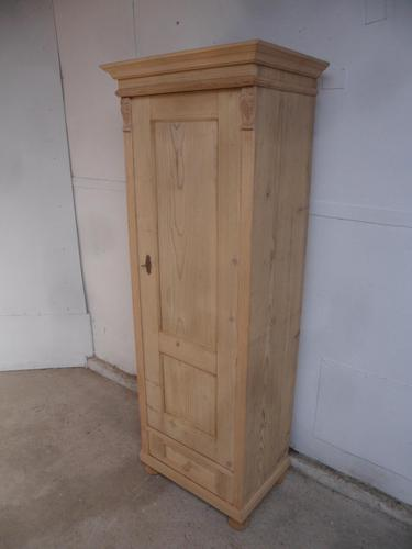 Antique Pine 1 Door 1 Drawer Multi Functional Cupboard to wax / paint (1 of 9)