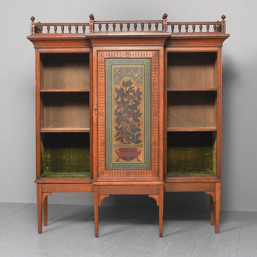 Oak & Painted Aesthetic Movement Bookcase (1 of 13)
