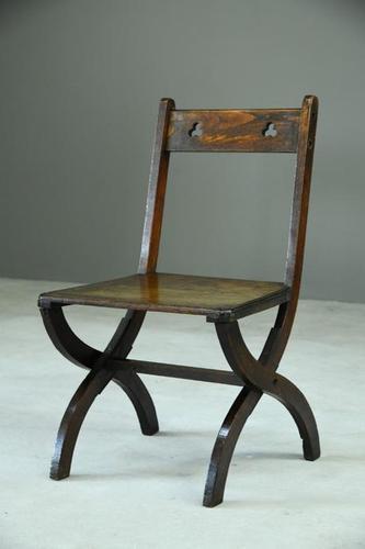 Arts & Crafts Single Oak Chair (1 of 11)