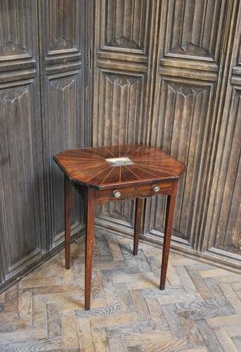 Georgian Mahogany Country House Side Table (1 of 10)