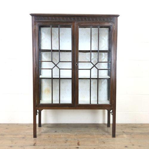 Antique Mahogany Display Cabinet (1 of 8)