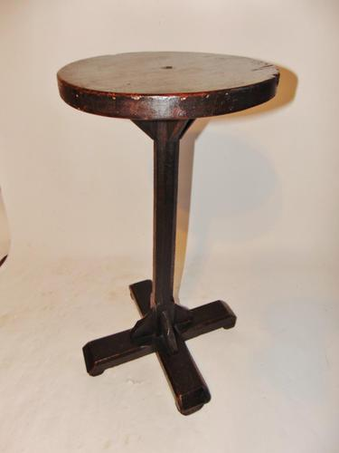 Georgian Country Made Stained Pine Candlestand (1 of 7)