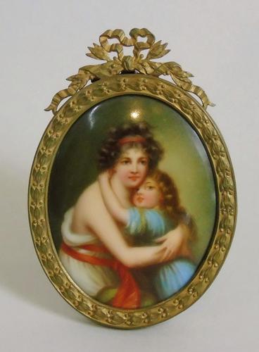 Antique Porcelain Portrait Miniature Madame le Brun (1 of 5)