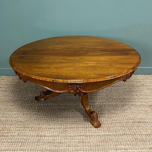 Outstanding Victorian Rosewood Antique Dining Table (1 of 9)