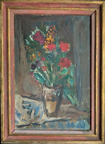 Large Rustic 19th Century French Impressionist Still Life Floral Oil Painting - Minor TLC (1 of 12)