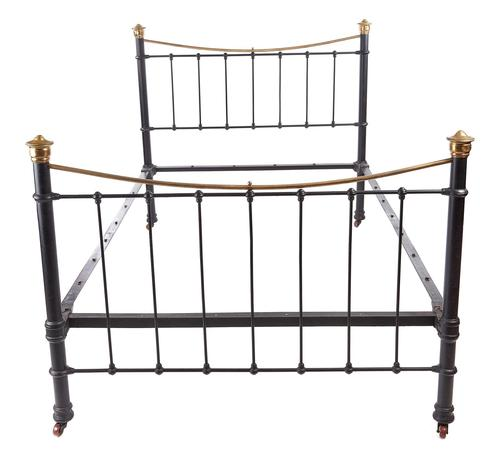 Antique Victorian Brass and Iron Bed (1 of 7)