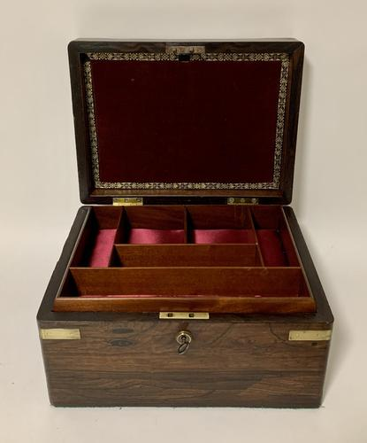 Antique Rosewood Jewellery Box (1 of 13)