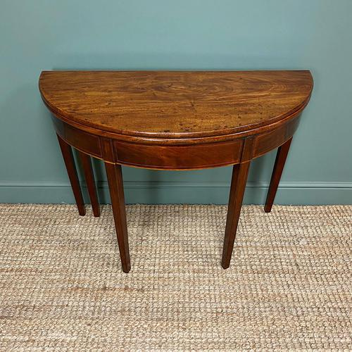 Georgian Mahogany Demi Lune Tea Table / Console Table (1 of 5)