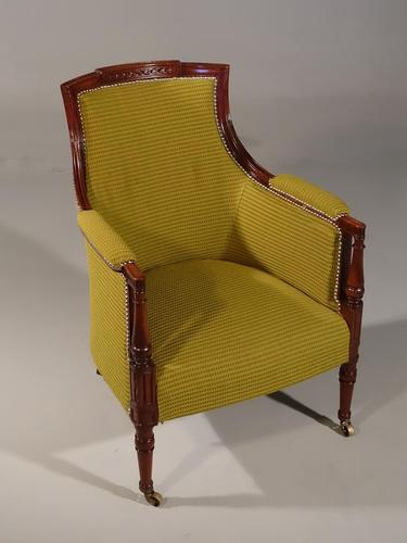 Very Well Carved 19th Century Club Chair (1 of 5)