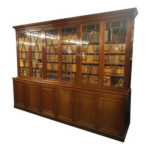 Large George III Style Mahogany 6 Door Cabinet Bookcase (1 of 17)