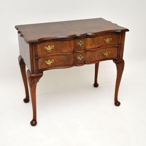 Antique Burr Walnut Low Boy Side Table (1 of 11)