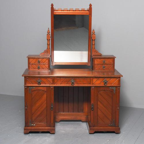 Victorian Gothic Revival Walnut Dressing Table (1 of 16)