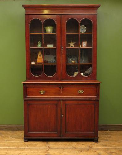 Antique George II Mahogany Secretaire Bookcase of Immense Character (1 of 16)