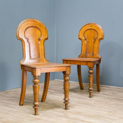 Pair of Victorian Hall Chairs (1 of 9)