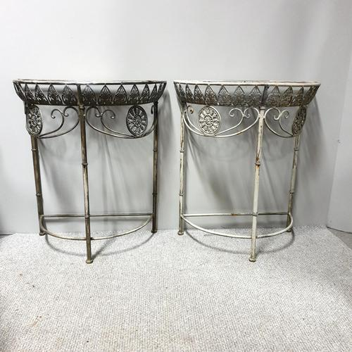Pair of French Metal Console Tables (1 of 15)
