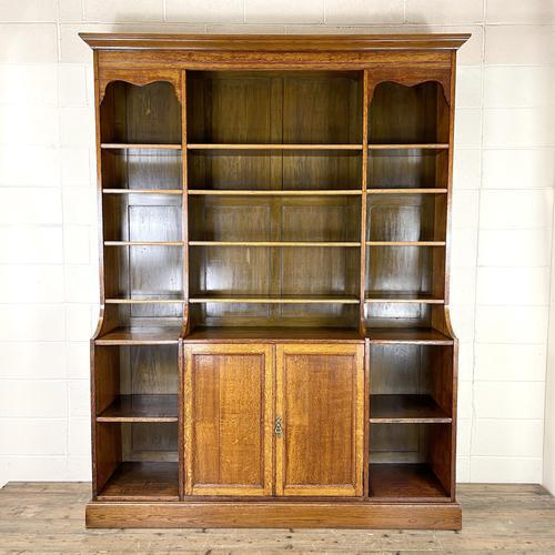 Large 19th Century Antique Oak Bookcase (1 of 11)
