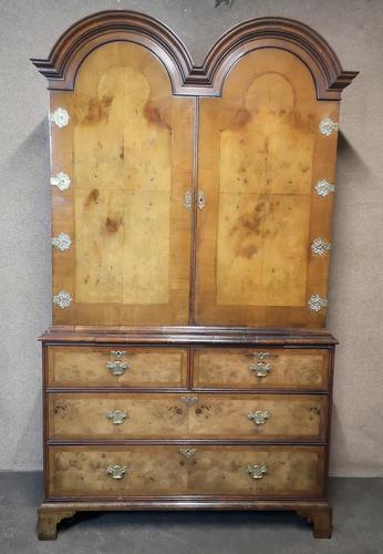 George I Style Figured Walnut Double Domed Cabinet (1 of 12)