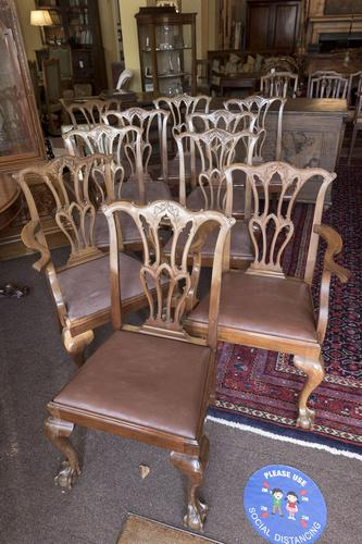 10 Chippendale style Mahogany Dining Chairs (1 of 5)