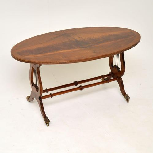 Regency Style Flame Mahogany Coffee Table (1 of 9)