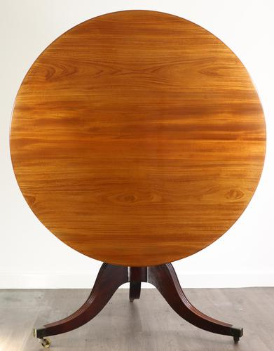 Fine quality Georgian mahogany tilt top dining table (1 of 9)