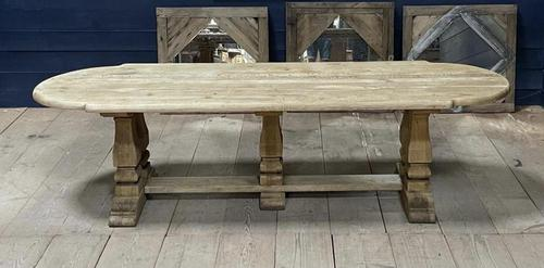 Huge French Bleached Oak Monastery Dining Table (1 of 30)
