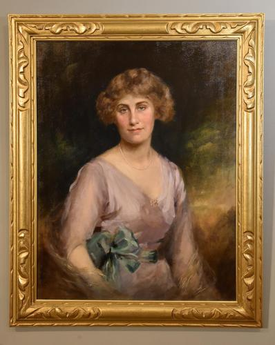 """Oil Painting by Edward Patry """"Portrait of Phyllis Pearce"""" (1 of 5)"""