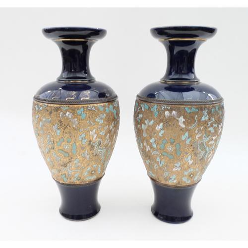 Pair of Royal Doulton Lambeth Vases (1 of 3)