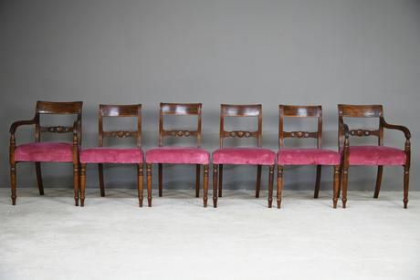 Set of 6 Regency Mahogany Dining Chairs (1 of 13)