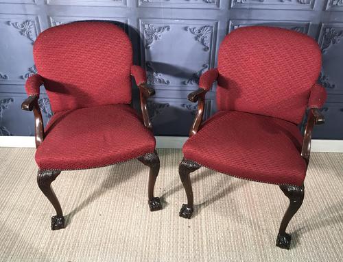 Pair of Mahogany Desk Chairs c.1920 (1 of 15)