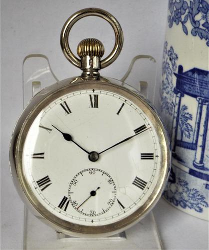 Antique Silver Stem Winding Pocket Watch 1919 (1 of 5)