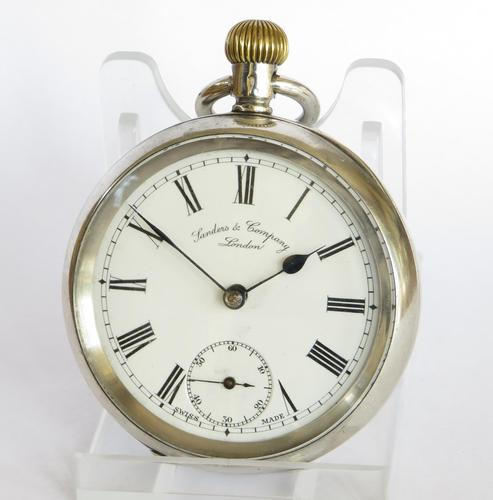 Antique Silver Omega Pocket Watch for Sanders & Co (1 of 6)