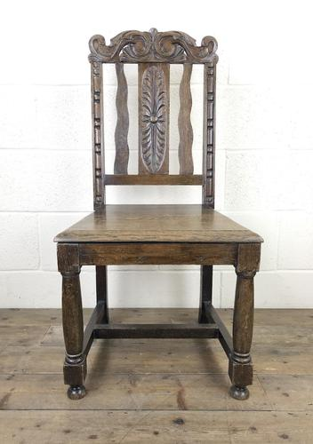 19th Century Antique Gothic Carved Oak Chair (1 of 8)