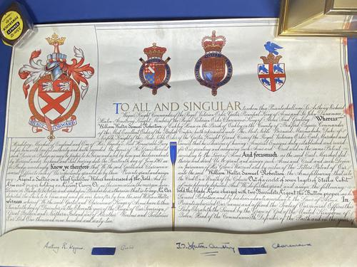 Queen Elizabeth II Grant for a Name & Coat of Arms (1 of 19)