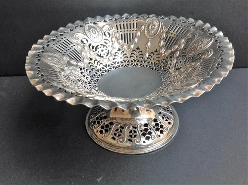 Antique Edwardian Silver Comport - 1906 (1 of 5)
