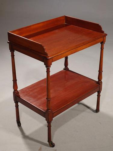 Small William IV Period Two Tier Trolley (1 of 4)