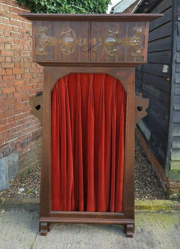 Quality Solid Oak Shapland Petter Arts & Crafts Hall Robe (1 of 10)