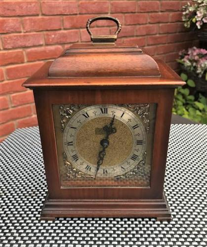 Delightful and Scarce 1970 English / German Striking Bracket Clock by F.H.S. (1 of 5)