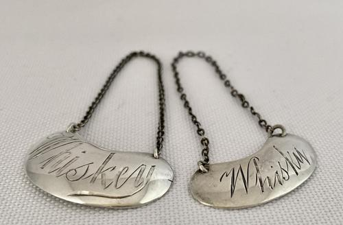 Two Sterling Silver Whiskey & Whisky Labels (1 of 5)