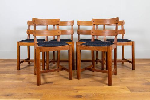 Set of 6 1930s Golden Oak Dining Chairs in the Manner of Heal's (1 of 16)