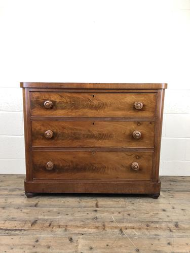 Victorian Mahogany Chest of Three Drawers (1 of 14)