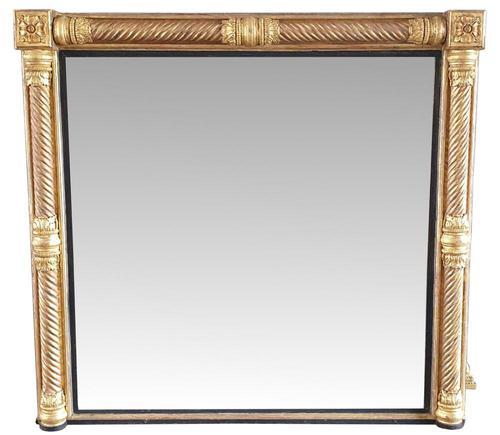 Early 19th Century Near Square Overmantle Mirror (1 of 3)
