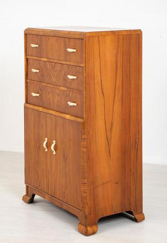 Art Deco Ladies Walnut Compactum (1 of 6)