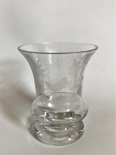 A fine etched Bohemian 19th Century beaker (1 of 3)